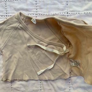 quincy mae Shirts & Tops - Quincy Mae organic kimono top in Bone. Size:0-3m